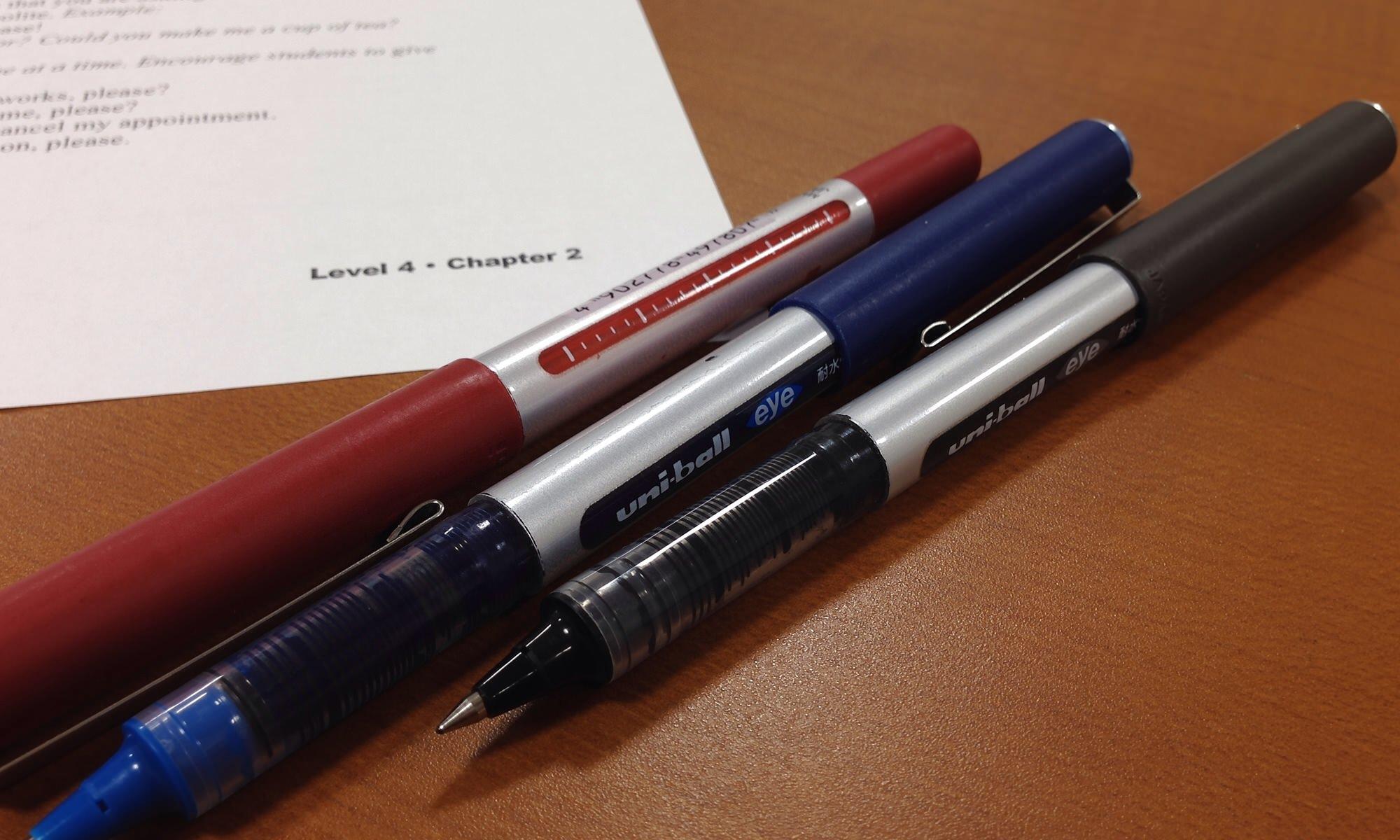 A Trio of Mitsubishi UB-150 Eye Pens