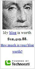 My Site Value as of May 18, 2007