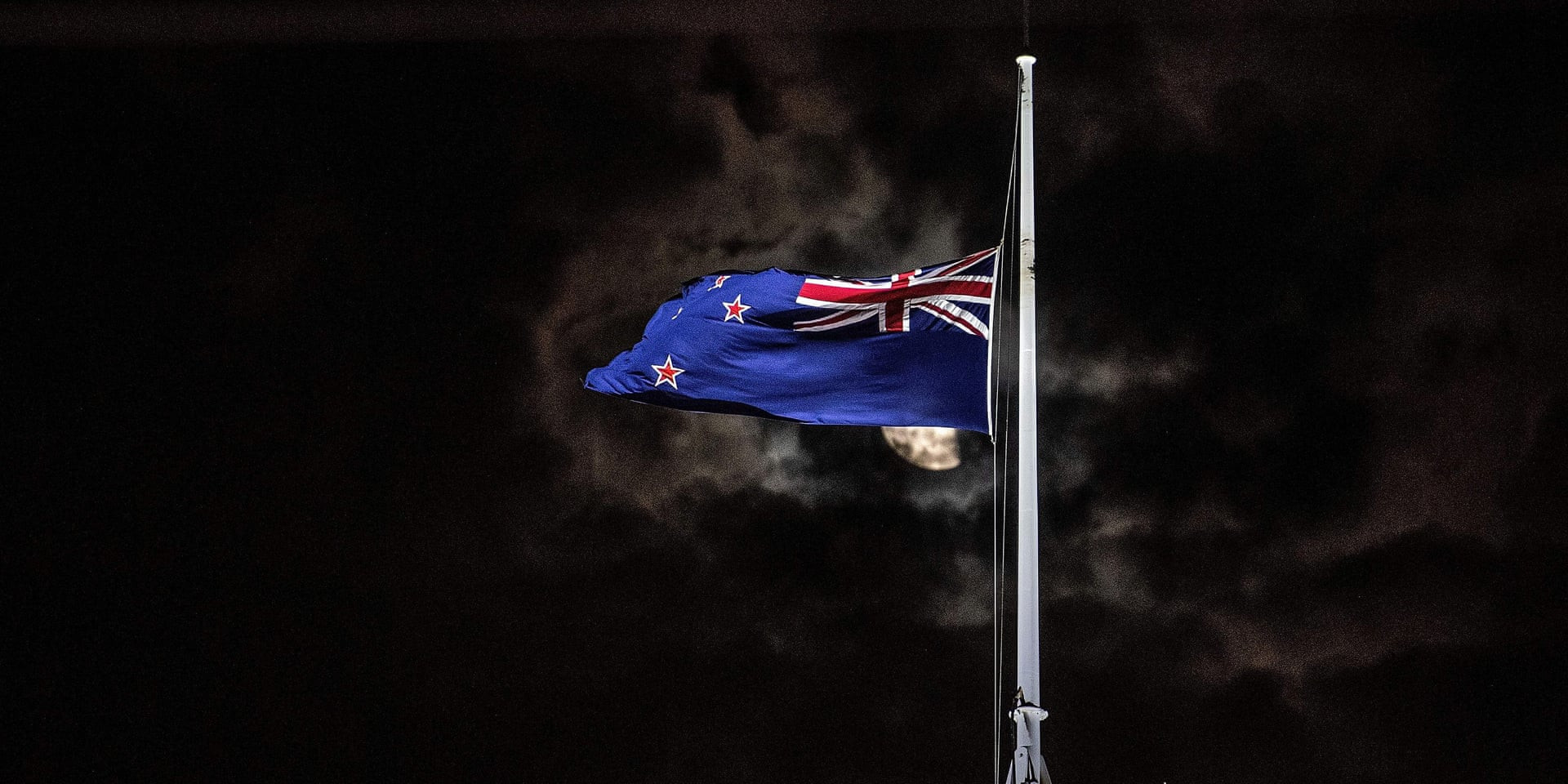 New Zealand Flag at Half-Mast
