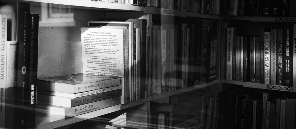 Bookshelf (Black & White)