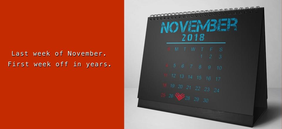 November 2018 Tent Calendar