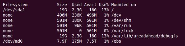 Ubuntu 10.10 (32bit) | 8TB RAID5 Partition