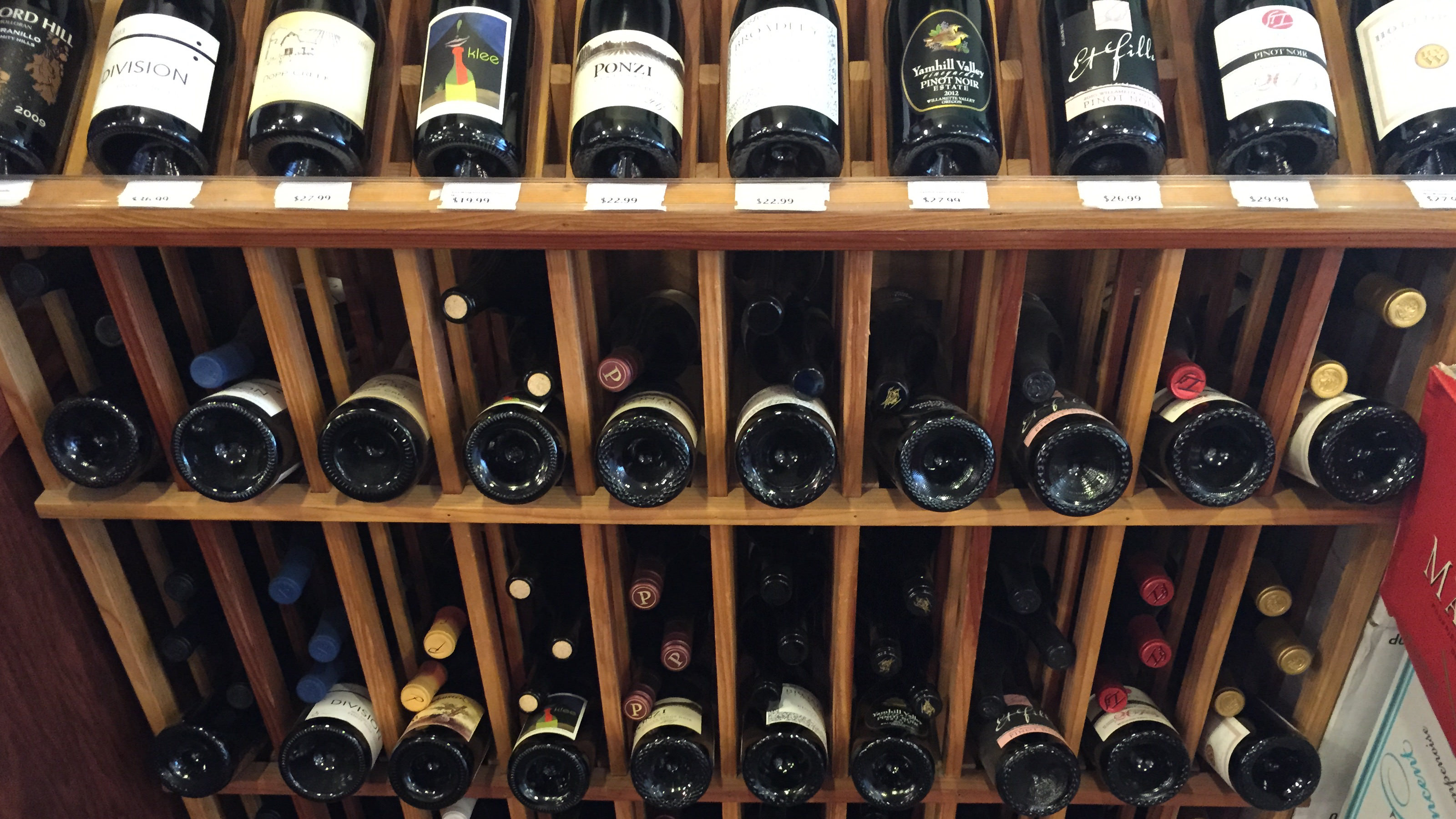 Wines in a Rack