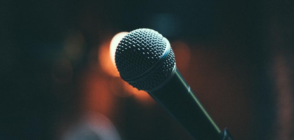 Microphone Up Close