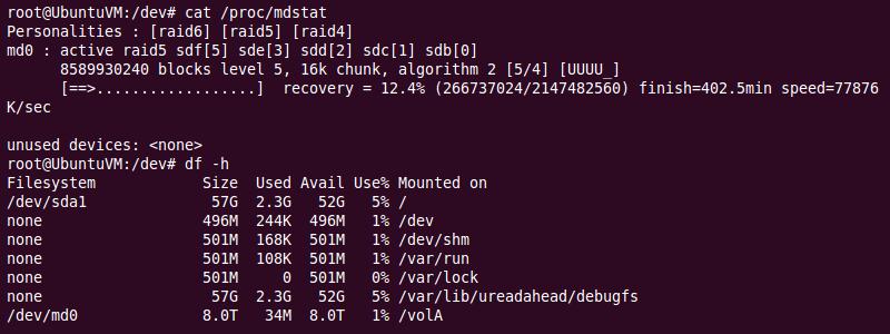 Ubuntu | Final mdadm Check