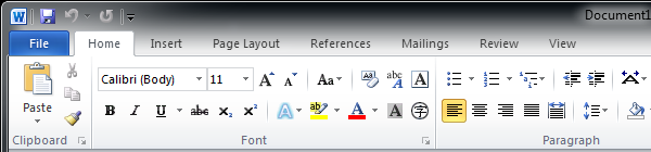 Microsoft Word | Ribbon