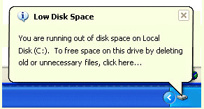 Windows XP | Low Disk Space