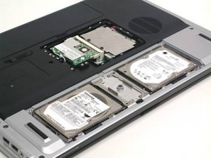 HP dv8075 | Exposed Hard Drives