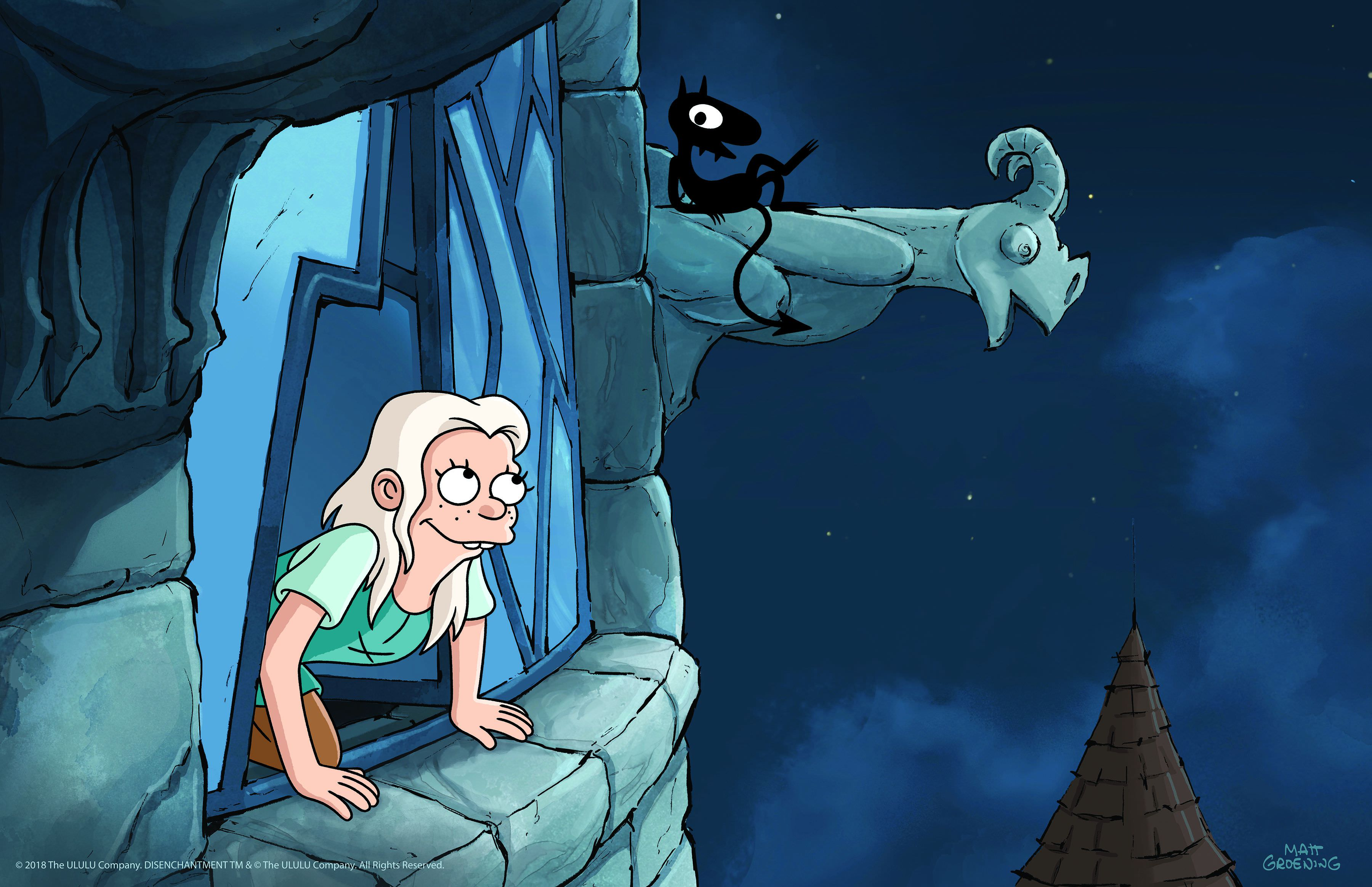 Disenchantment — Bean and Luci Enjoy the Night