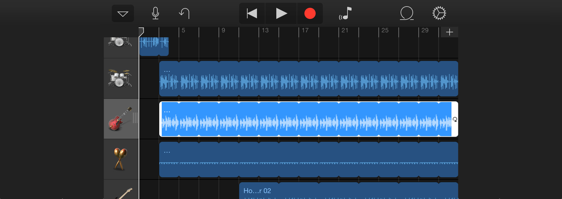 Garage Band for iOS