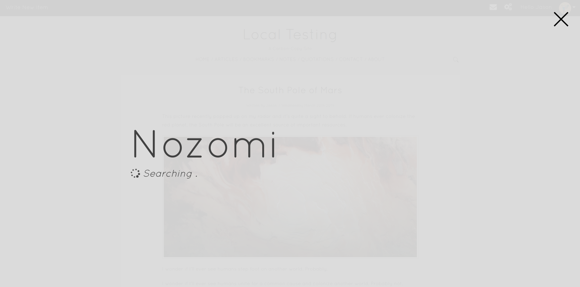 001 - Search For Nozomi