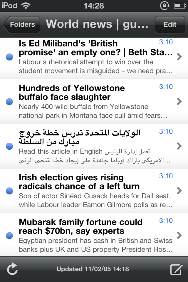 There's Arabic In My RSS!