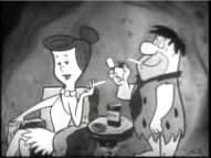 Fred & Wilma Flintstone Smoking Some Winston Cigarettes