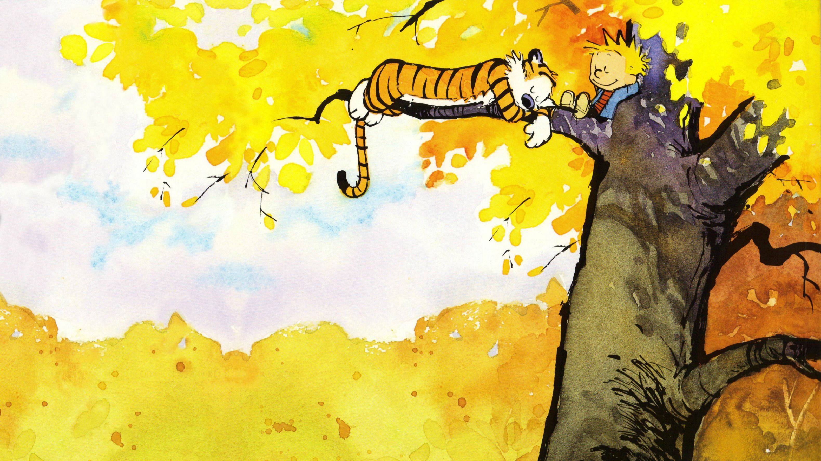 Calvin & Hobbes — Chilling in a Tree