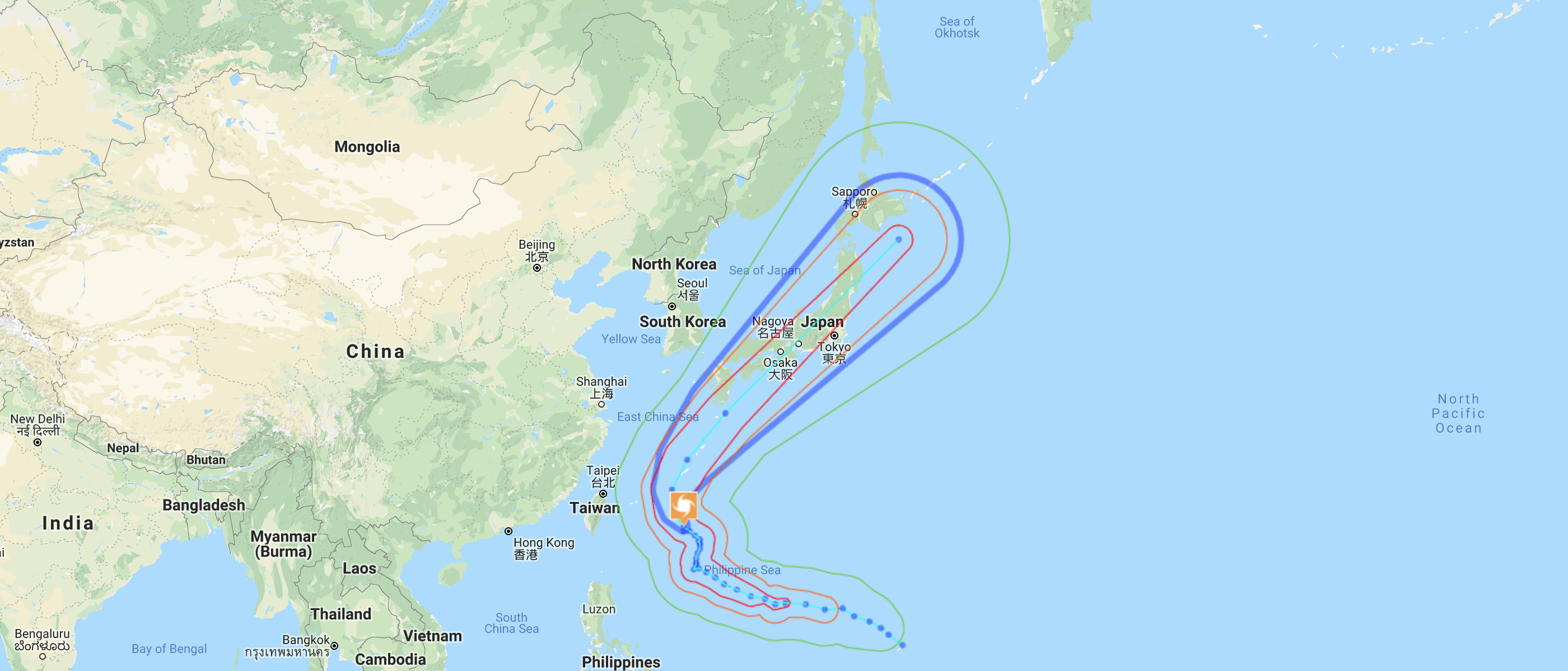 Typhoon 24's Path