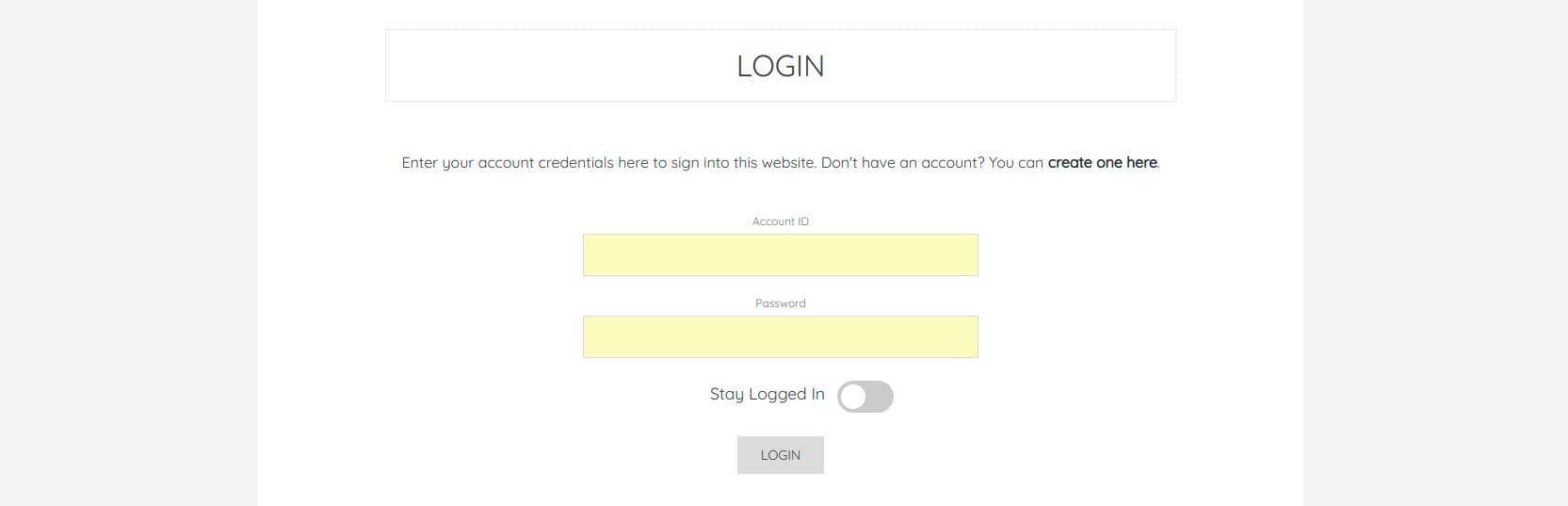 The Login Form