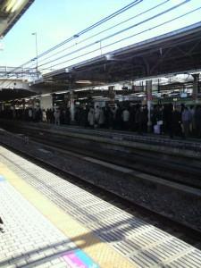 山の手線 Yamanote Line (Platform at Distance)