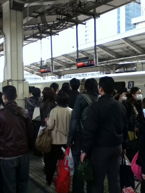 Tokyo Station (Loading on the Nozomi)