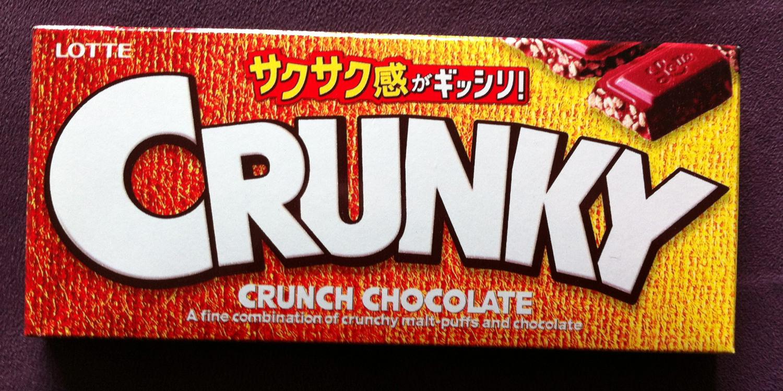 Lotte Crunky Chocolate Bar