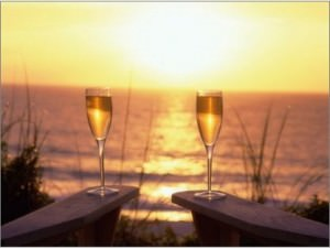 Champagne at the Beach