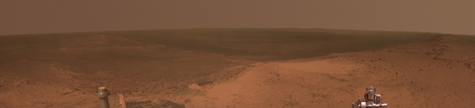 Opportunity Rover at Cape Tribulation on Sol 3902