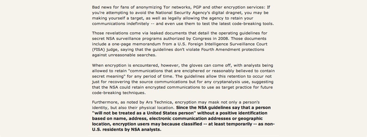 Daily KOS Excerpt - We Have No Right to Privacy