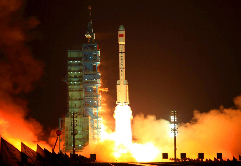 The Long-March 2 Rocket — Shenzhou 11 — Launches Into Space