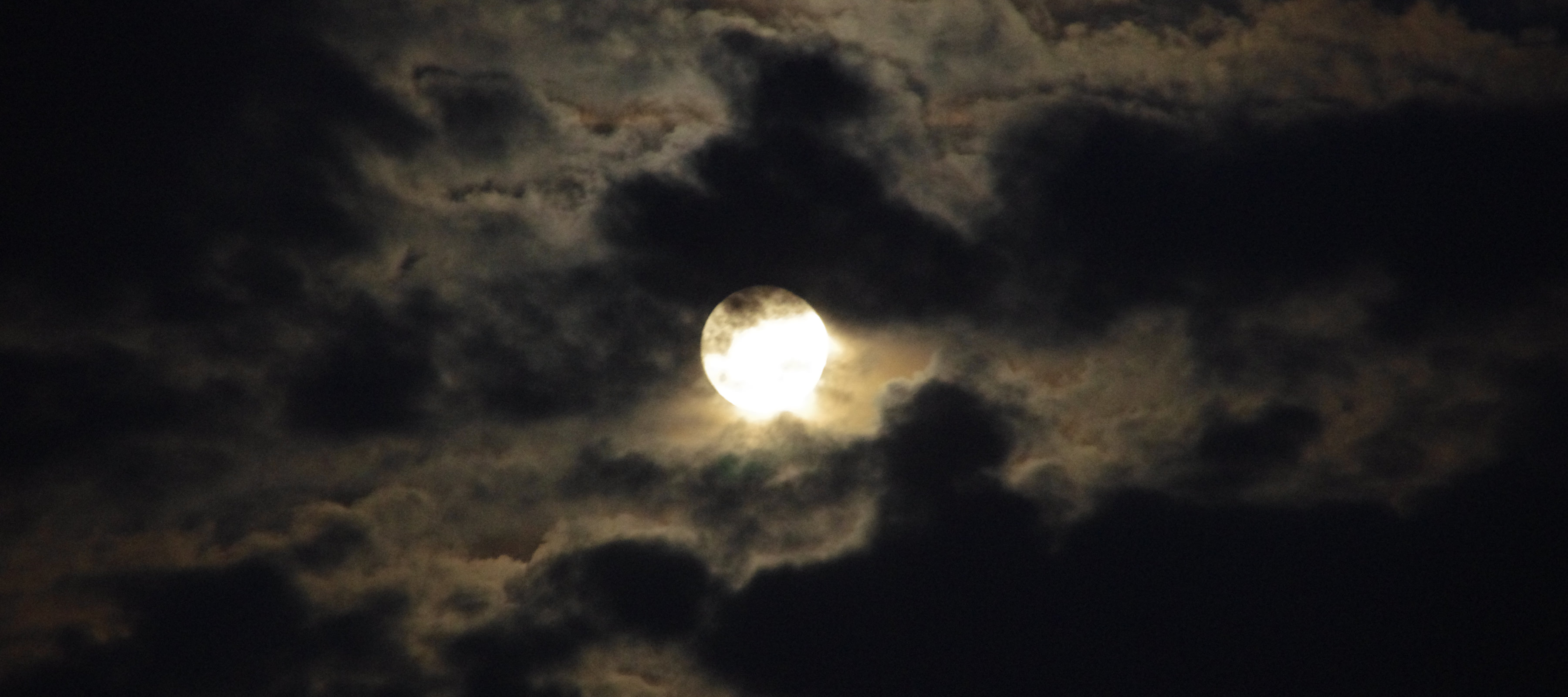 The Moon Behind the Clouds