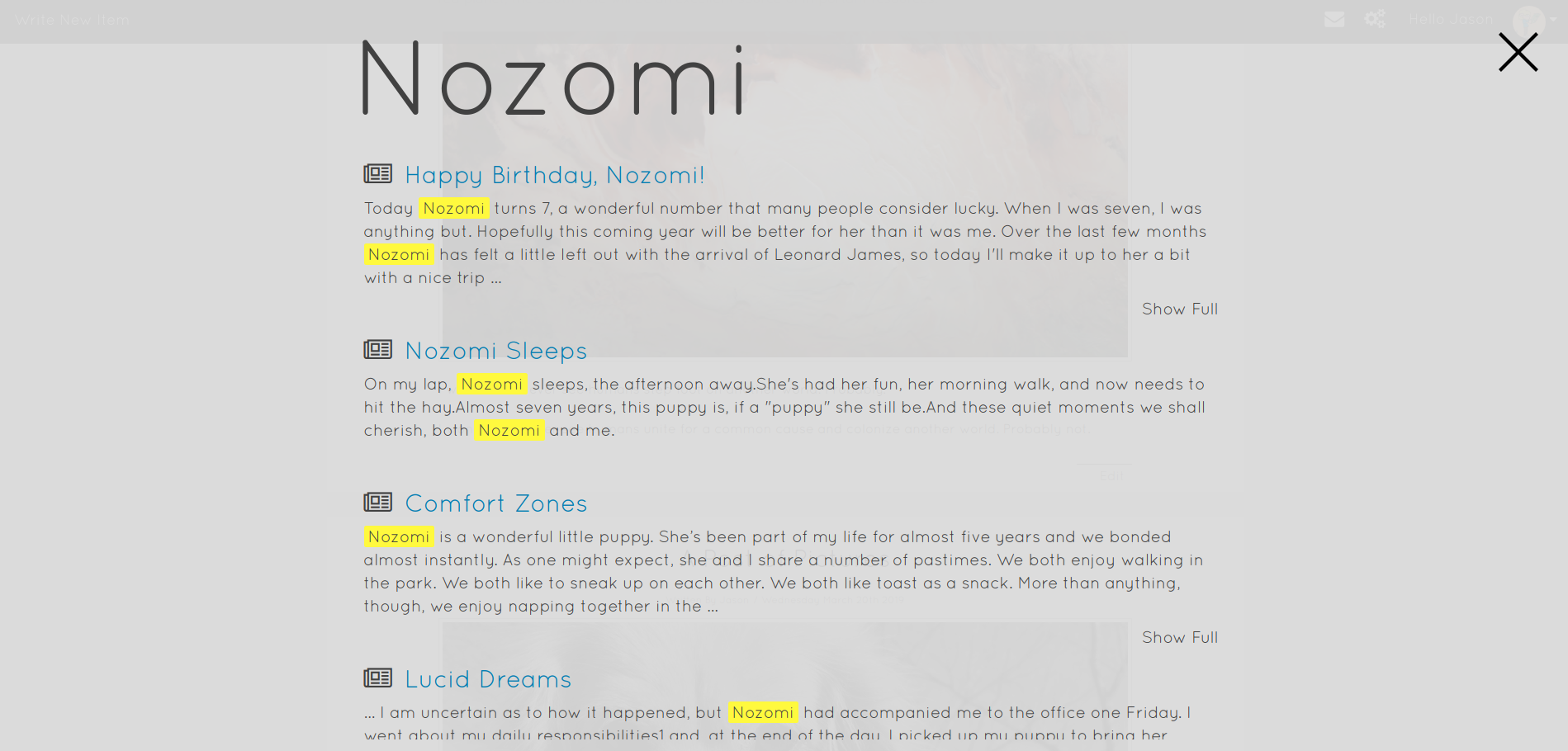 002 - Search Results for Nozomi