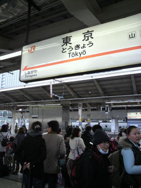 Tokyo Station (Hundreds In Line for Shinkansen)