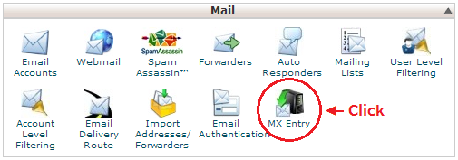 CPanel | MX Entry