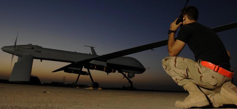Predator Drone at Night