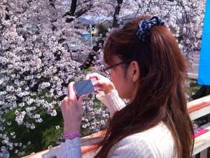 Reiko Taking a Picture