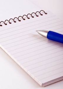 Spiral Note Pad with Pen (Empty)