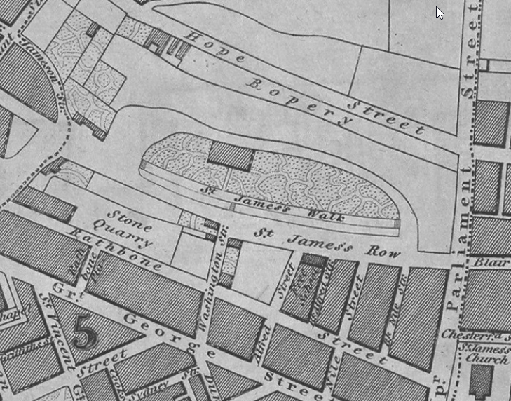 liverpool st james cemetery map with 2nd quarry.png