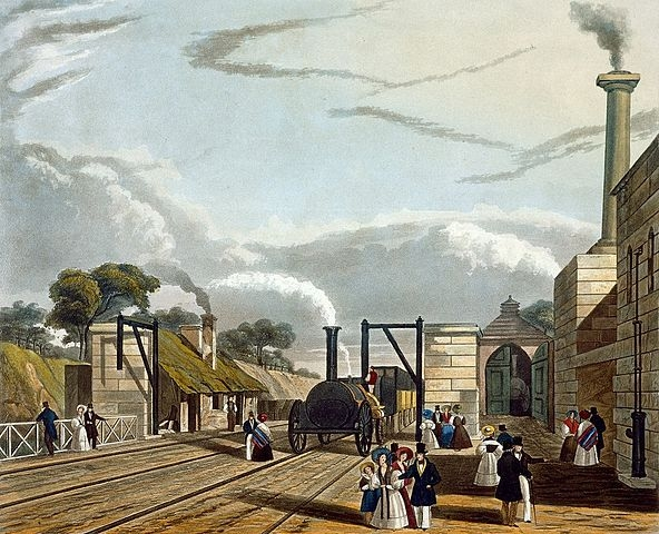 592px-Taking_in_Water_at_Parkside,_from_Bury's_Liverpool_and_Manchester_Railway,_1831_-_artfinder_267572 medium.jpg